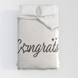 Congrats - Typography Congratulation greeting with stars Comforters