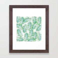 Fern Leaves Framed Art Print