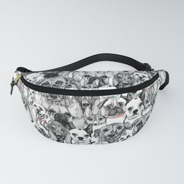 just dogs coral mint Fanny Pack