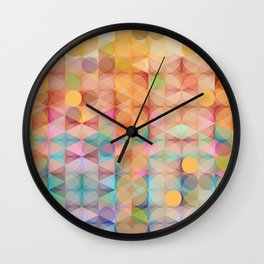 Abstract Pastel Pallete Wall Clock