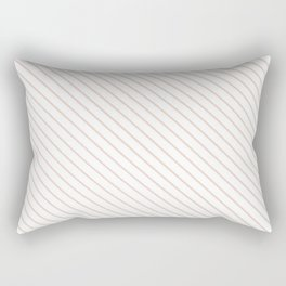 Pale Dogwood Stripe Rectangular Pillow