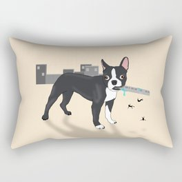 Attack of the Colossal Boston Terrier!!! Rectangular Pillow