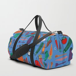 fall veggies blue Duffle Bag