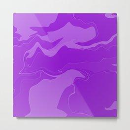 Abstract Desert Blues Pattern 32 Metal Print