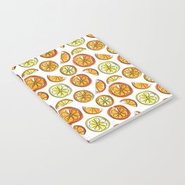 Illustrated Oranges and Limes Notebook