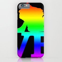 Wisconsin Pride USA State Love Map iPhone Case