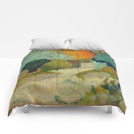 "Paul Gauguin ""Laveuses à Arles (Washerwomen in Arles)"" Comforters"
