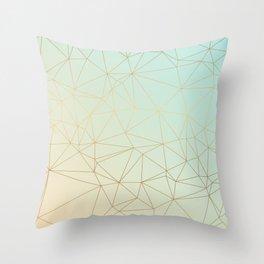 Pastel Geometric Minimalist Pattern Throw Pillow