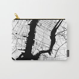 New York City White on Black Carry-All Pouch
