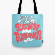 Lying in the snow screaming... Tote Bag