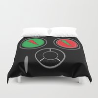 rave Duvet Covers featuring RAVE MASK by shannon's art space