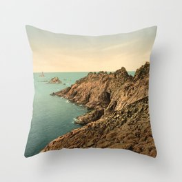 """Pointe du Raz Douarnenez France"" Throw Pillow"