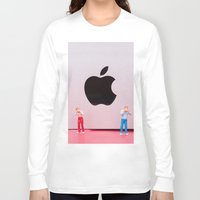 mac Long Sleeve T-shirts featuring Hungry Mac by Encolhi as Pessoas