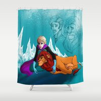 simba Shower Curtains featuring you can't change the past  by lulu555