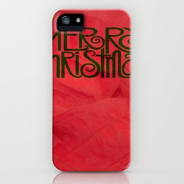 Flor De Noche Buena iPhone Case