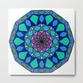 Circles ornament mandala Metal Print