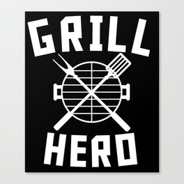 Grill Hero BBQ Barbeque Spatula And Fork Canvas Print