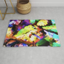 Beaver's Tail colorful cactus Rug