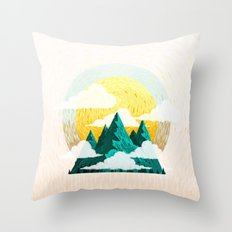 Mother Fucking Nature Throw Pillow