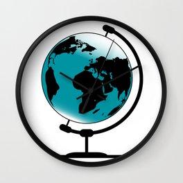 Mounted Globe On Rotating Swivel Wall Clock