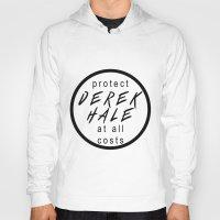 derek hale Hoodies featuring Protect Derek Hale by punkhale