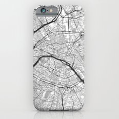 Paris Map Gray Slim Case iPhone 6s