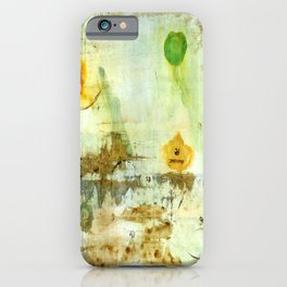 Drifting, Abstract Landscape Art Painting iPhone Case