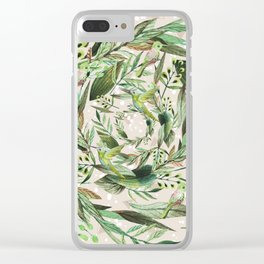 Nature in circles Clear iPhone Case