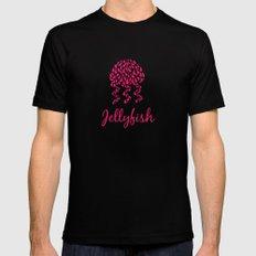 Jellyfish Pink Black MEDIUM Mens Fitted Tee