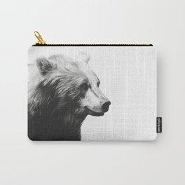 Bear // Calm (Black + White) Carry-All Pouch
