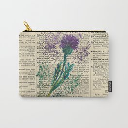 Vintage Jaggy Thistle  Carry-All Pouch