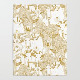 just goats gold Poster