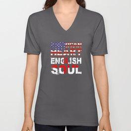 American Heart English Soul Gift Unisex V-Neck