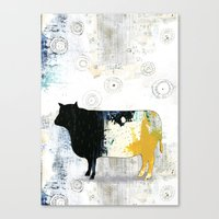cow Canvas Prints featuring Cow by Sarah Ogren