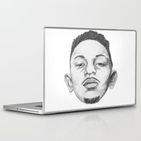 kendrick lamar Laptop & iPad Skins featuring Kendrick Lamar by Omar Guzman