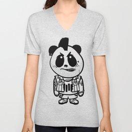Punk Rock Panda  Unisex V-Neck