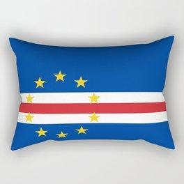 Cabo Verde Flag Rectangular Pillow