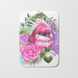 Be Mine Love Bird Bath Mat
