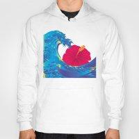 hokusai Hoodies featuring Hokusai Rainbow & Hibiscus_R  by FACTORIE