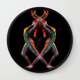 Metallic Rainbow Dancer Wall Clock