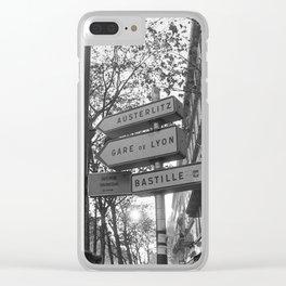 Gare De Lyon Clear iPhone Case