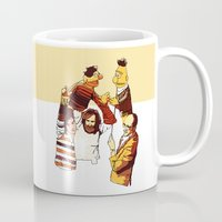 muppets Mugs featuring Bert & Ernie Muppets by joshuahillustration