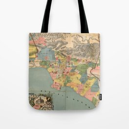 Vintage Map of Los Angeles County CA (1888) Tote Bag