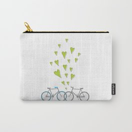 Raining Love over Bikes Carry-All Pouch