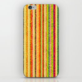 Colorful Stripes and Curls iPhone Skin