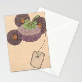 mangosteen & teabags Stationery Cards