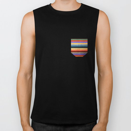 Crazy Stripes Biker Tank