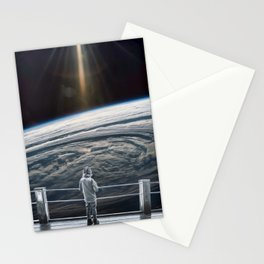 Looking back at earth ... Stationery Cards