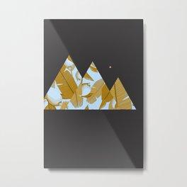 Tropical Leaves & Geometry Metal Print