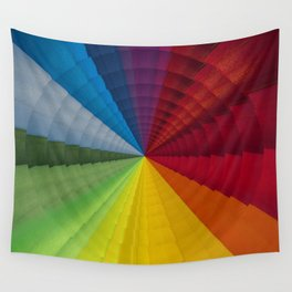 Rainbow colors radial pattern Wall Tapestry